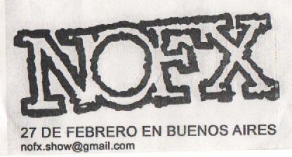 Flyer NOFX Argentina