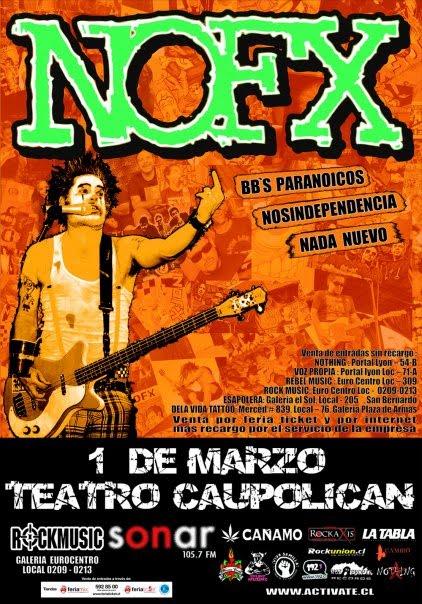 Afiche NOFX Chile 2010